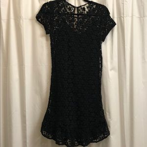 Joie Lola Crochet Dress Black XS